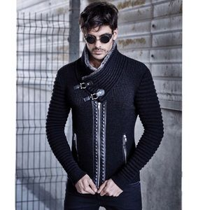 LCR Black Edition Shawl Collar Sweater